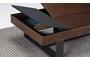 Τραπεζάκι σαλονιού Cartellina σκούρο καρυδί COF-0360-0138 Efdeco Image 10