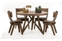 Τραπέζι Funky 2 φυσικού ξύλου TAB-0186-0006 Efdeco Image 2