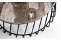 Τραπεζάκι σαλονιού Leon μαρμάρινο 95x40 cm COF-0961-0092 Efdeco Image 2