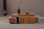 Τραπεζάκι σαλονιού Poly φυσικού ξύλου COF-0186-0012 Efdeco Image 5